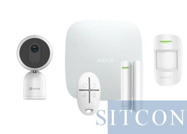 Ajax Alarmsysteem Wit + IP binnencamera SMART
