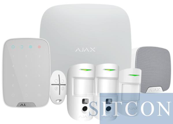 Ajax Draadloos alarmsysteem Hub 2 Deluxe kit Wit