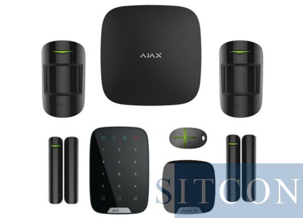 AJAX draadloos alarmsysteem Deluxe Zwart