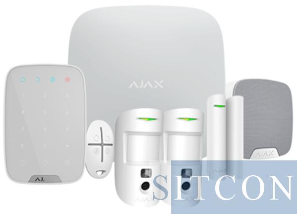 Ajax Draadloos alarmsysteem Hub 2 Compleet kit Wit