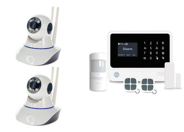 Alarmsysteem PRO + 2 IP PTZ camera's
