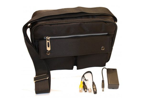 Tas spy camera set met DVR