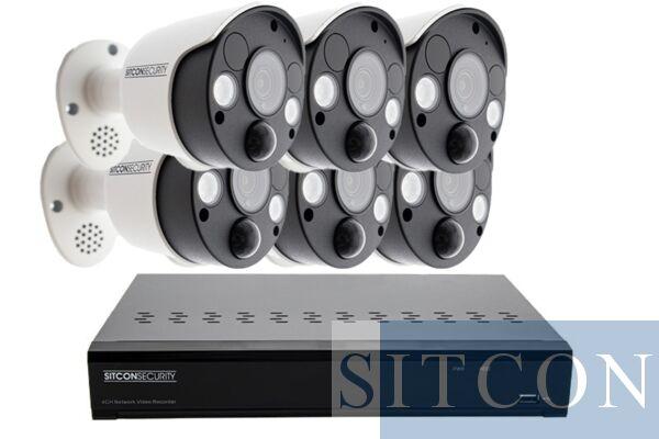 Schriklamp bewakingscamera set SMART 6