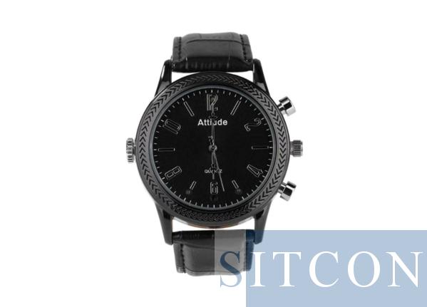 Horloge spycam - Leder 1