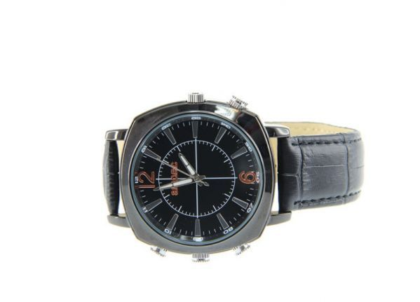 Horloge spycam - Leder 2