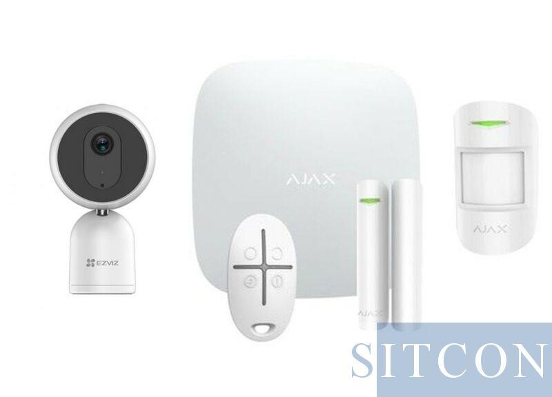 Alarmsysteem Wit + IP binnencamera SMART